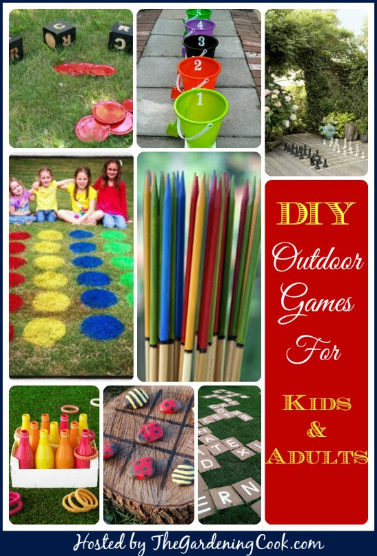 Best ideas about DIY Games For Kids . Save or Pin Outdoor Games for Kids and Adults The Gardening Cook Now.
