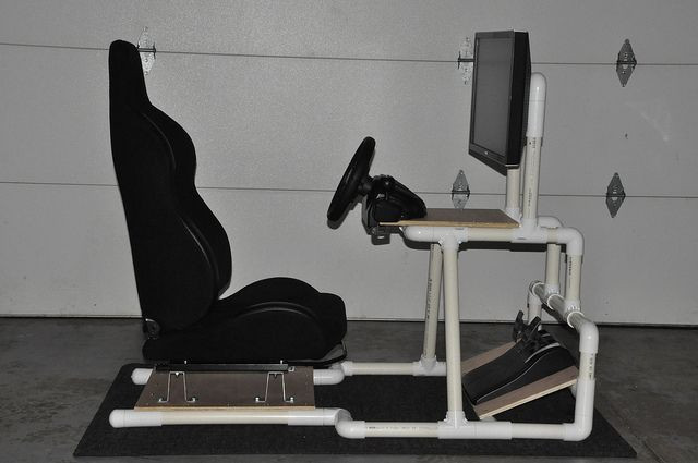 Best ideas about DIY Gaming Chair Plans . Save or Pin DIY PVC Racing Simulator Cockpit Now.