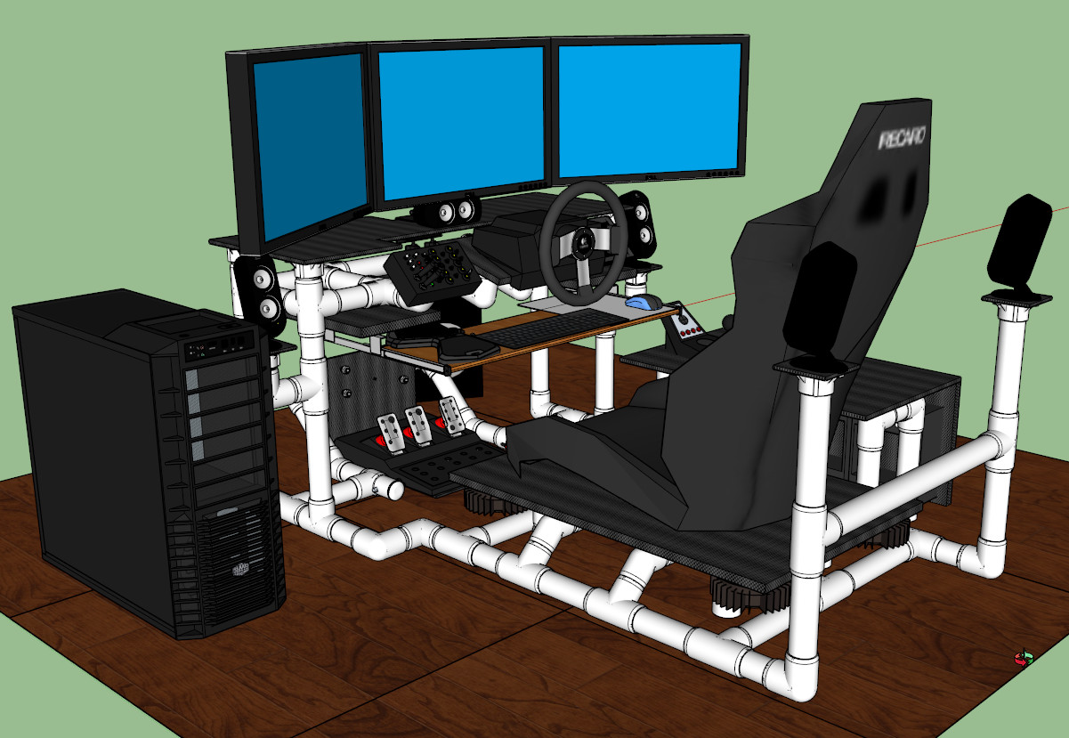 Best ideas about DIY Gaming Chair Plans . Save or Pin Sim Rig Gaming Desk My DIY Racing Rig Project Now.