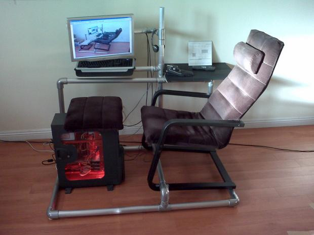 Best ideas about DIY Gaming Chair Plans . Save or Pin DIY gaming rig made from pipes Now.
