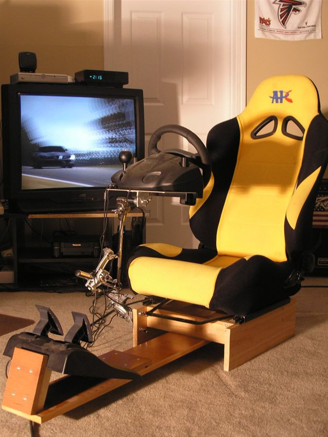 Best ideas about DIY Gaming Chair Plans . Save or Pin Racing Simulation Home Gaming Chair Now.