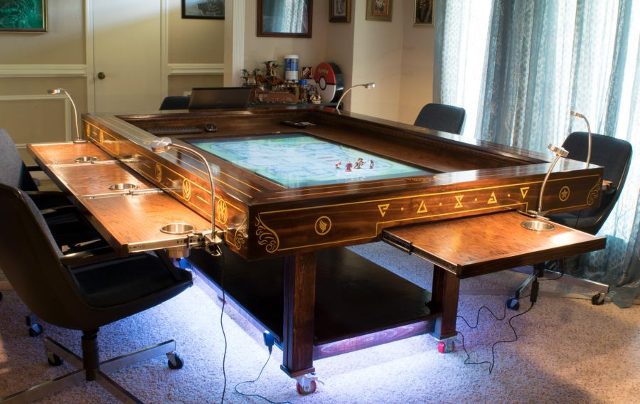 Best ideas about DIY Gaming Table Plans . Save or Pin DIYer Builds Cool Steampunk Gaming Table Now.