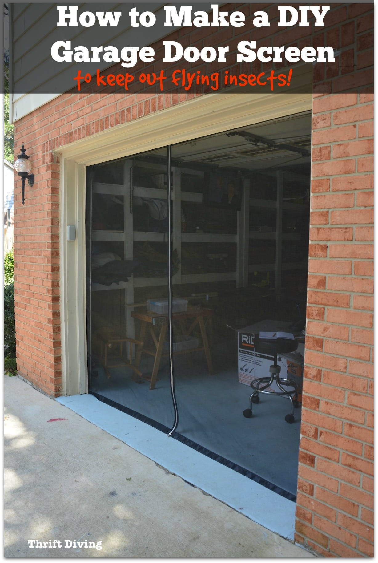 Best ideas about DIY Garage Door . Save or Pin How to Make Your Own Garage Door Screen With a Zipper Now.