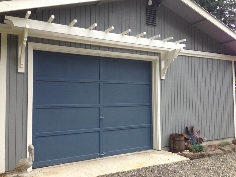 Best ideas about DIY Garage Door . Save or Pin blue roof cabin DIY Trellis Over the Garage Door Now.