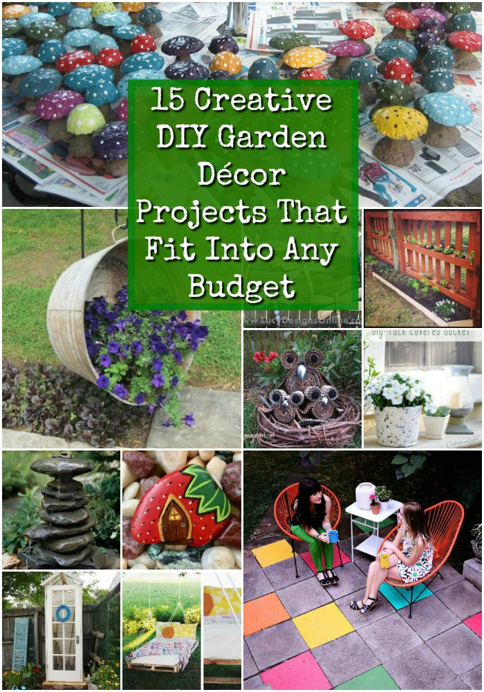 Best ideas about DIY Garden Decor . Save or Pin 15 Creative DIY Garden Decor Projects That Fit Into Any Now.