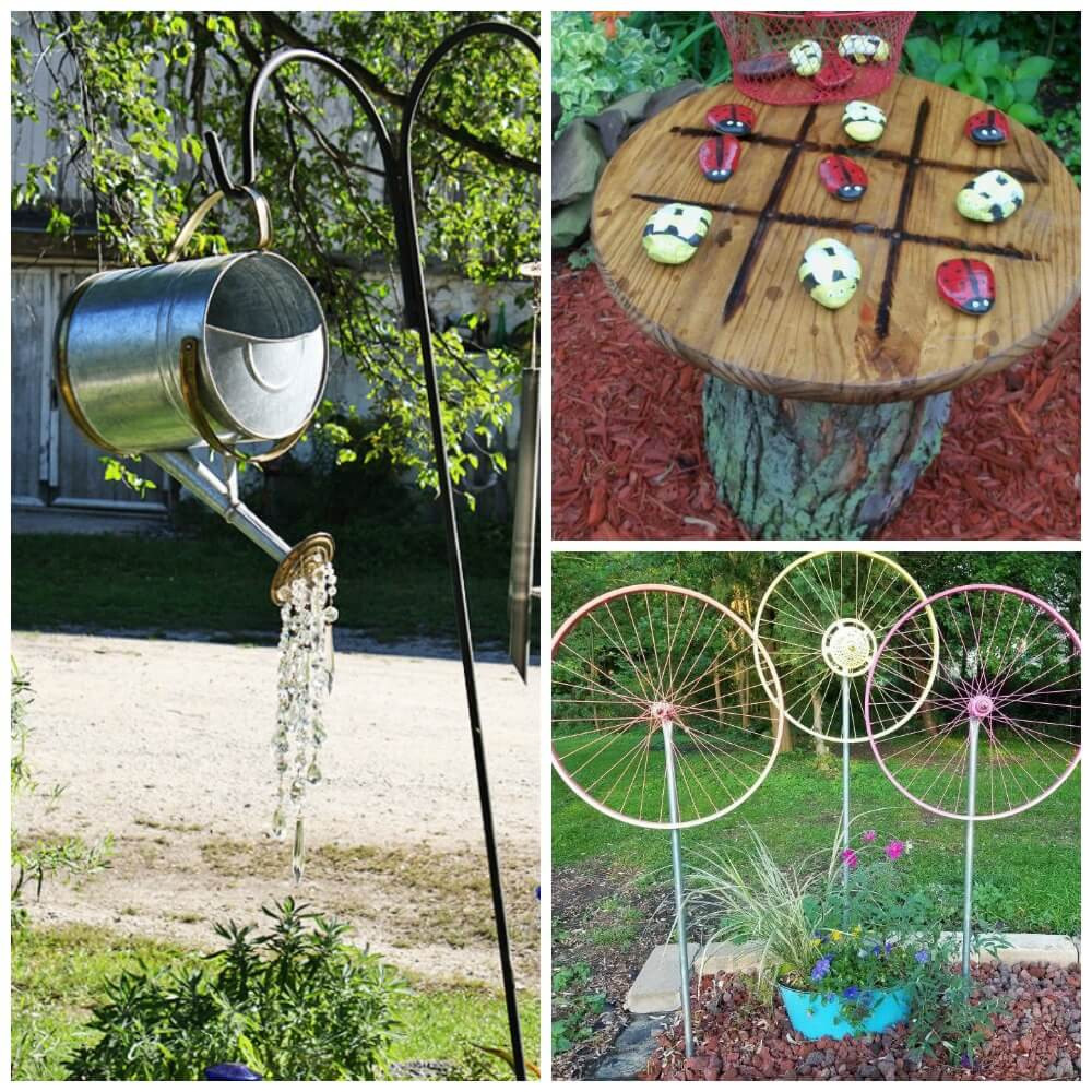 Best ideas about DIY Garden Decor . Save or Pin 15 DIY Garden Decor Ideas Watering Can Spin WheelLiving Now.