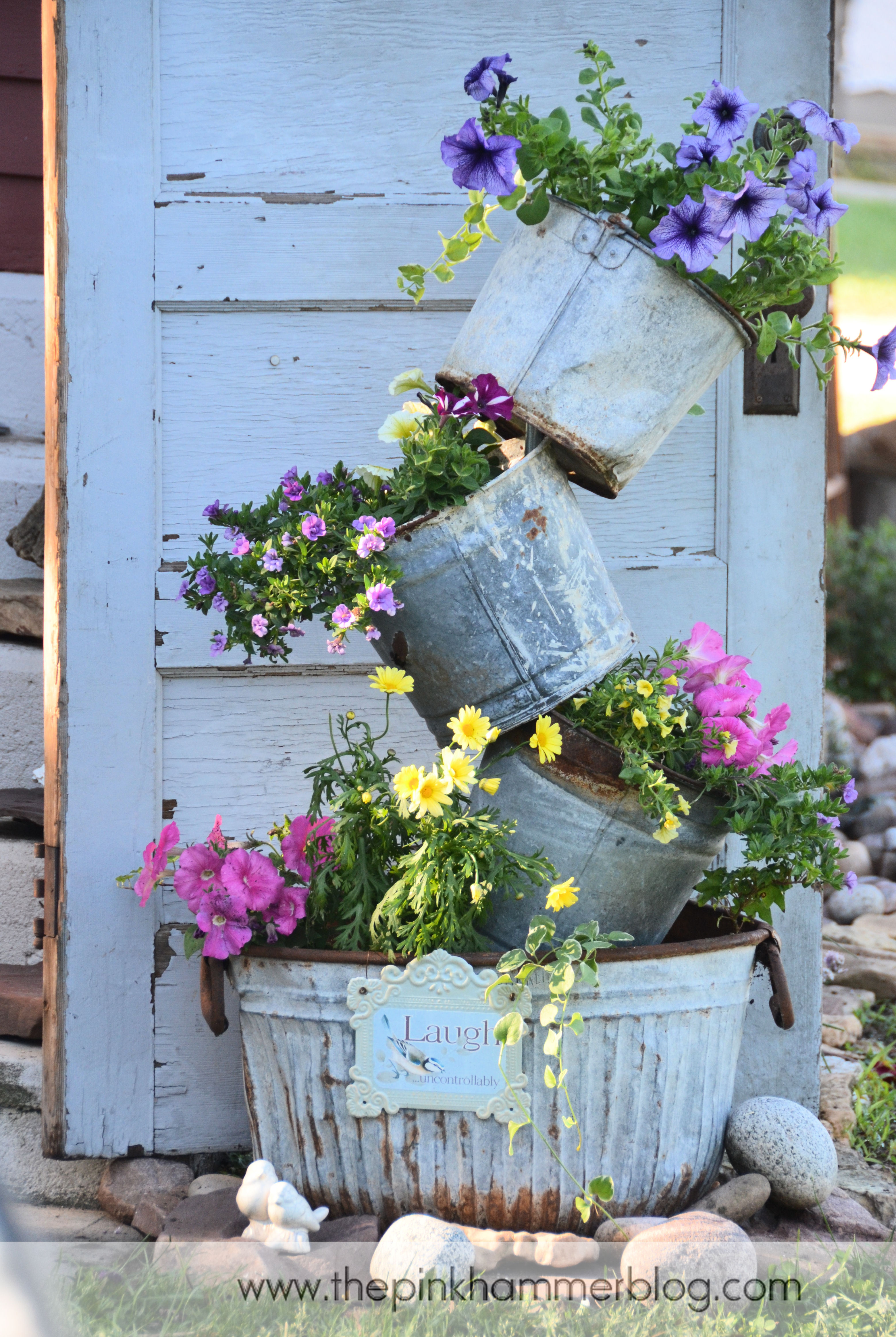 Best ideas about DIY Garden Decor . Save or Pin Primitive tipsy pot planters Now.