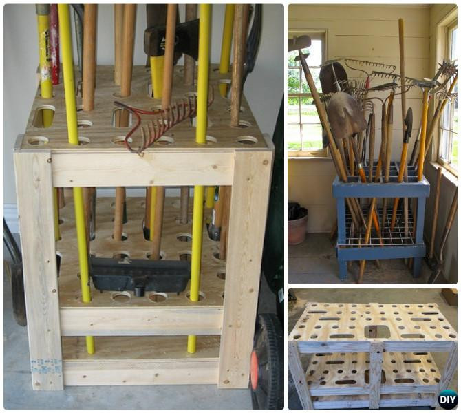 Best ideas about DIY Garden Tool Organizer . Save or Pin Garden Tool Organizer Storage DIY Ideas Projects Instructions Now.