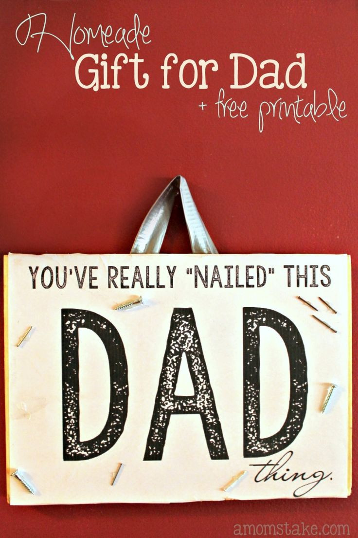 Best ideas about DIY Gift For Dad Christmas . Save or Pin Best 25 Homemade ts for dad ideas on Pinterest Now.