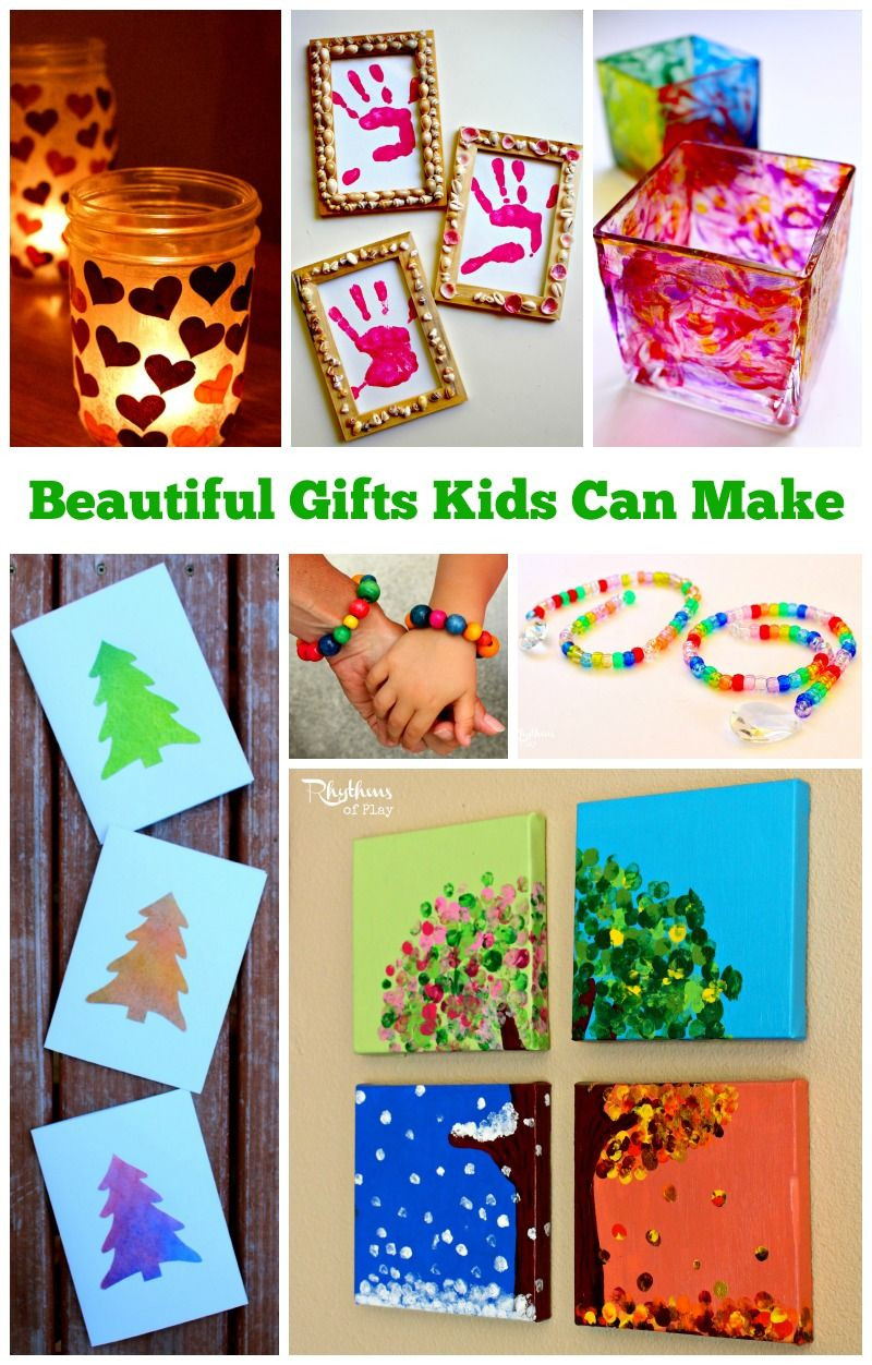 Best ideas about DIY Gift Ideas For Kids . Save or Pin Homemade Gifts Kids Can Make for Parents and Grandparents Now.