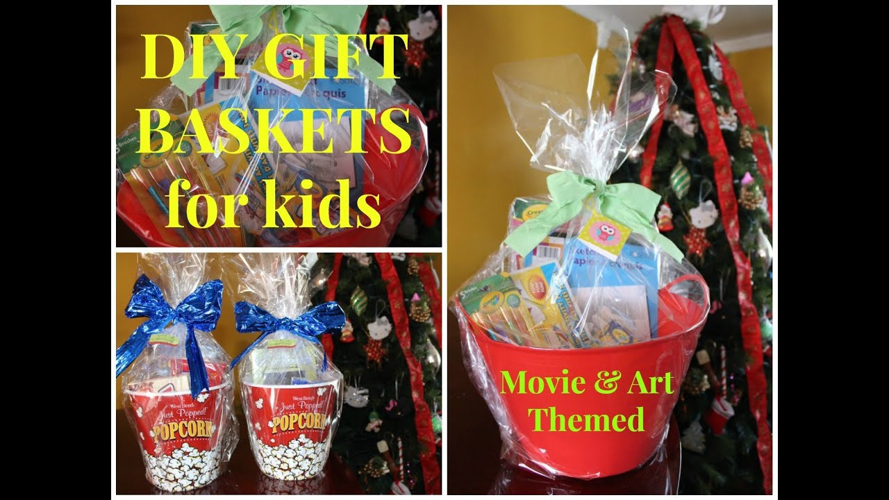 Best ideas about DIY Gift Ideas For Kids . Save or Pin DIY Movie & Art Themed Gift Baskets for Kids Bud Now.