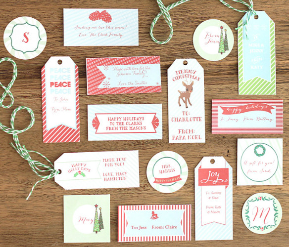 Best ideas about DIY Gift Tags Free Printable . Save or Pin Free Printable Holiday Gift Tags by Paper and Pigtails for Now.