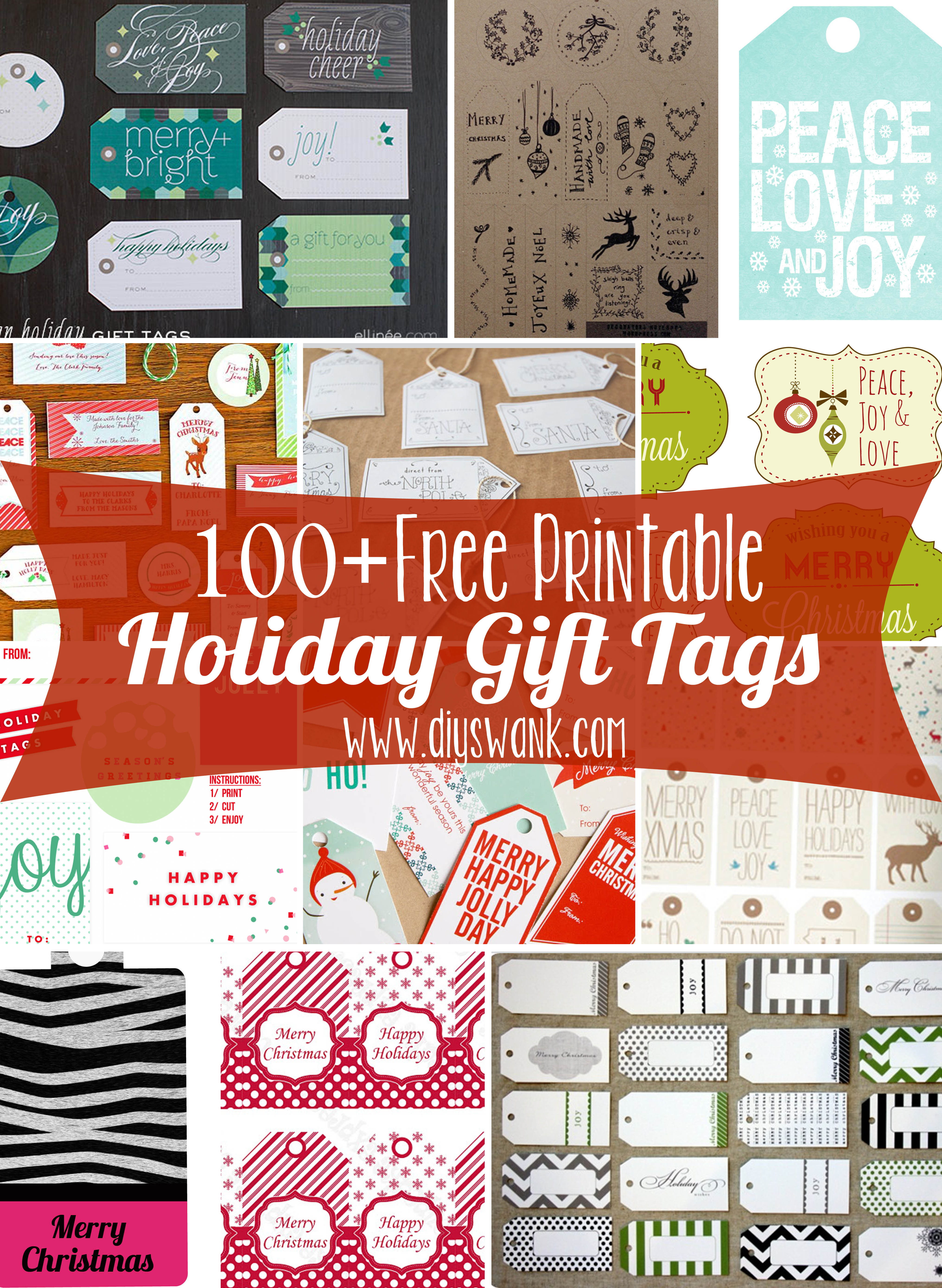 Best ideas about DIY Gift Tags Free Printable . Save or Pin Free Printable Holiday Gift Tags Now.