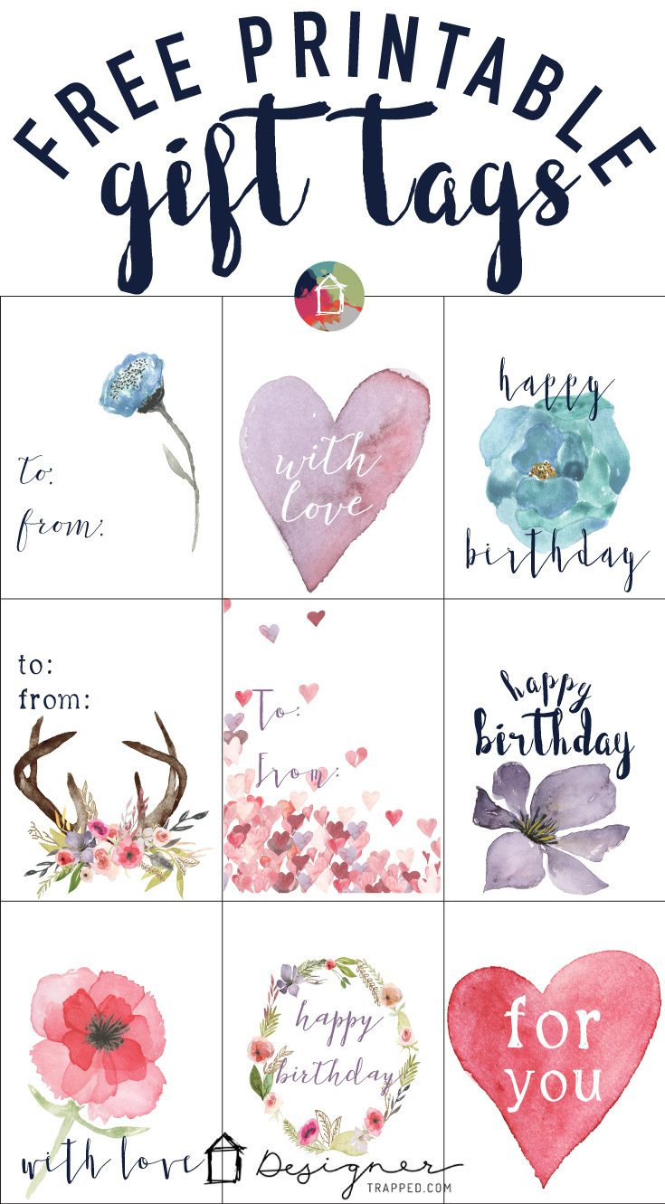 Best ideas about DIY Gift Tags Free Printable . Save or Pin FREE Printable Gift Tags for Birthdays Now.