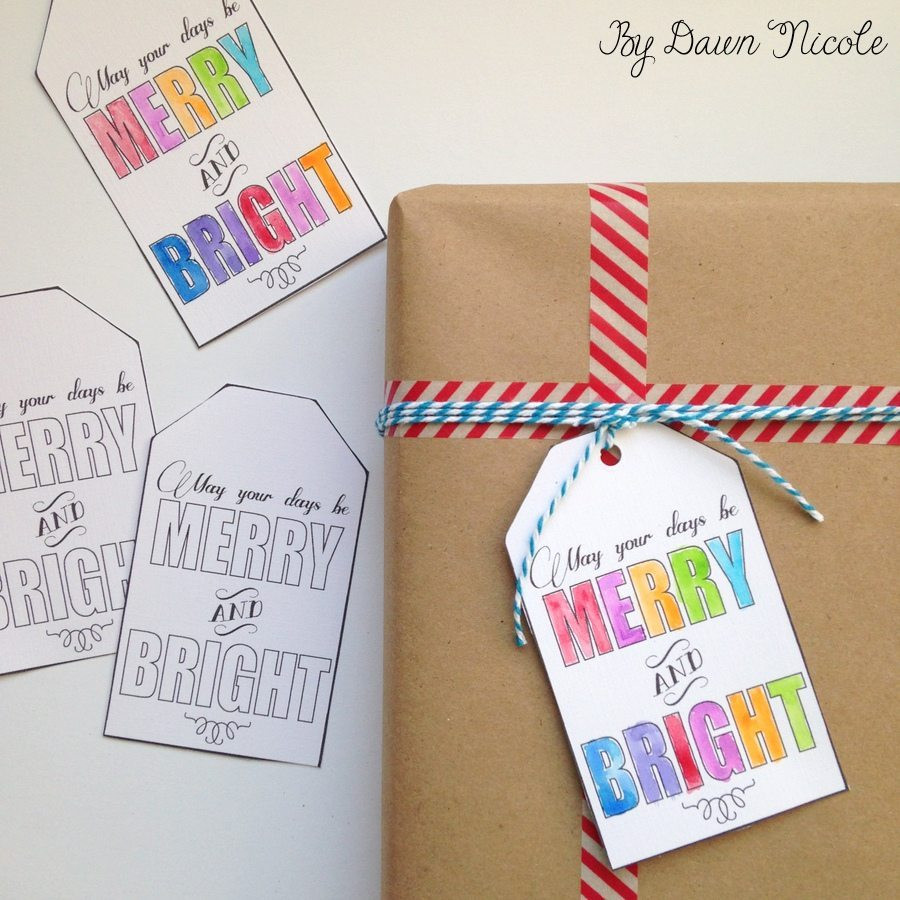 Best ideas about DIY Gift Tags Free Printable . Save or Pin Watercolor Printable DIY Gift Tags Now.