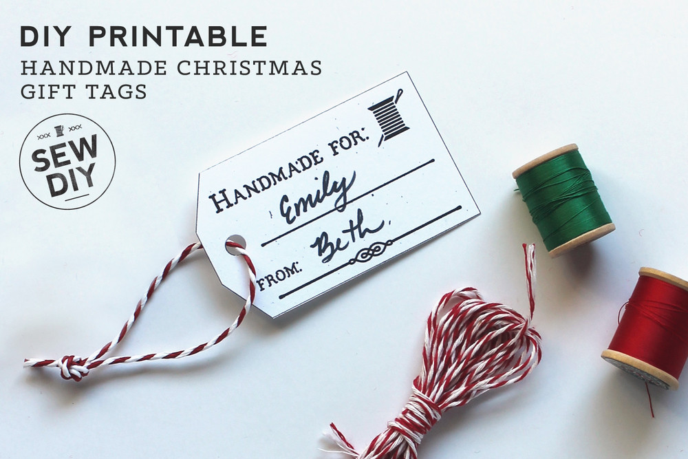 Best ideas about DIY Gift Tags Free Printable . Save or Pin Free DIY Printable – Handmade Gift Tags — Sew DIY Now.