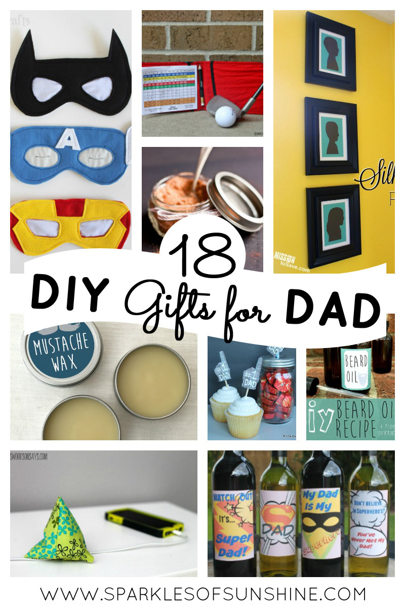 Best ideas about DIY Gifts For Dad . Save or Pin 18 DIY Gifts for Dad Sparkles of Sunshine Now.