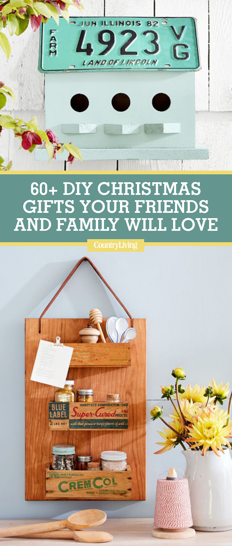 Best ideas about DIY Gifts For Family . Save or Pin 60 DIY Homemade Christmas Gifts Craft Ideas for Now.
