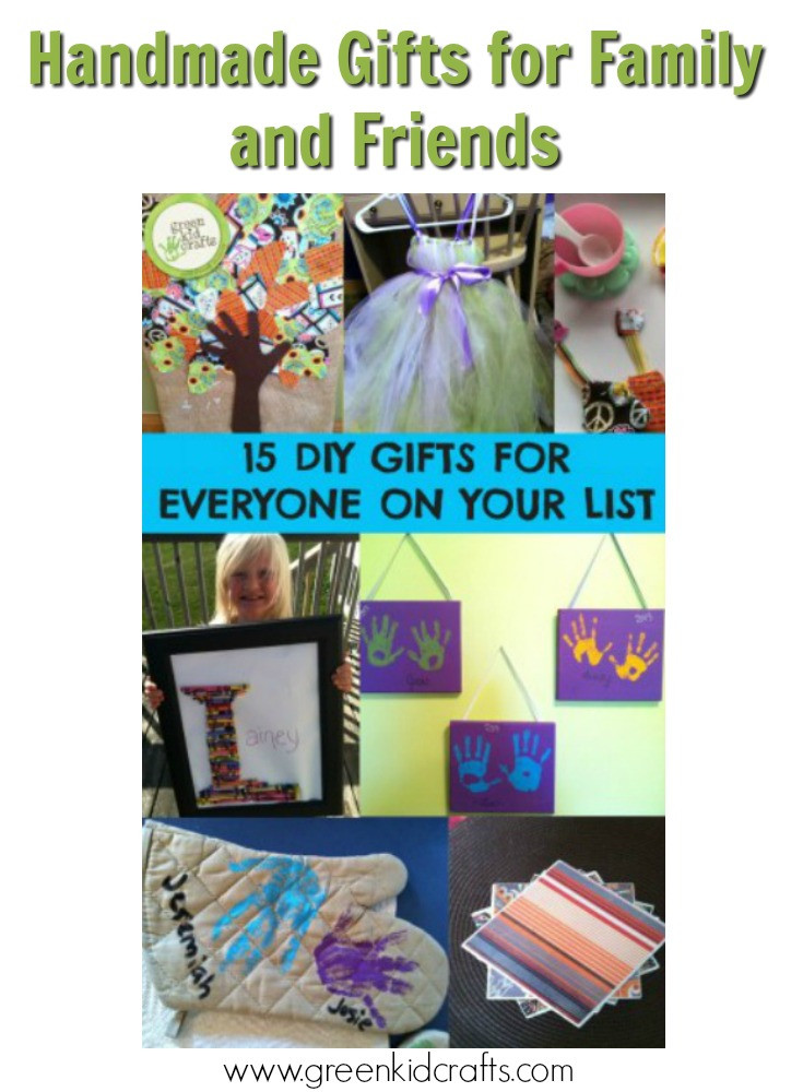 Best ideas about DIY Gifts For Family . Save or Pin DIY Gift Guide for Family and Friends Green Kid Crafts Now.