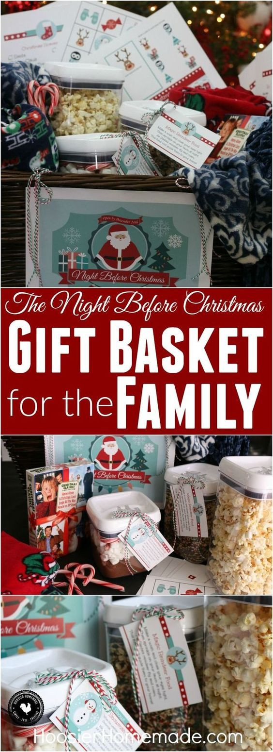 Best ideas about DIY Gifts For Family . Save or Pin Christmas t baskets Meaningful ts and The night Now.
