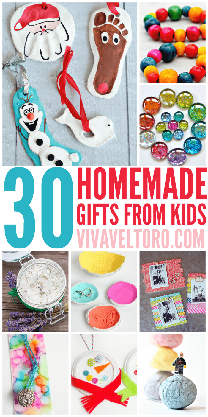 Best ideas about DIY Gifts For Kids . Save or Pin 30 Homemade Gifts from Kids Viva Veltoro Now.