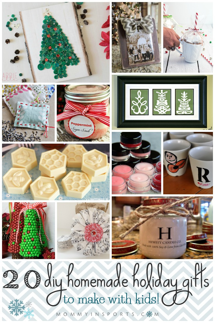 Best ideas about DIY Gifts For Kids To Make . Save or Pin 20 DIY Homemade Holiday Gifts To Make with Kids Now.