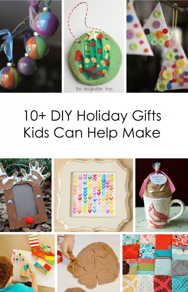 Best ideas about DIY Gifts For Kids To Make . Save or Pin 10 DIY Holiday Gifts Kids Can Help Make Now.