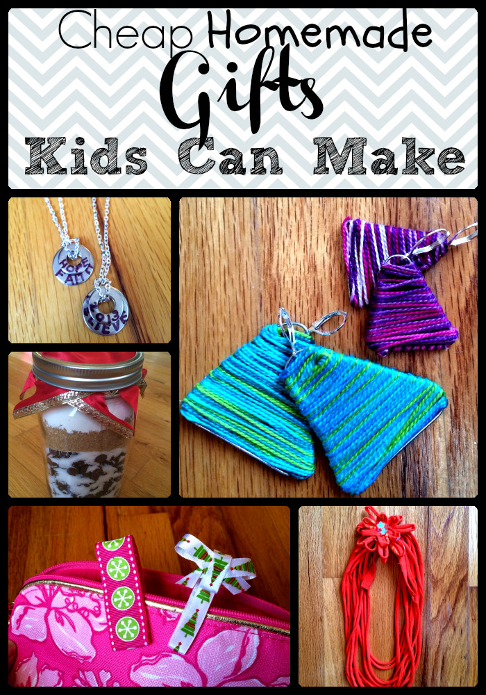 Best ideas about DIY Gifts For Kids To Make . Save or Pin Cheap Homemade Gifts Kids Can Make Now.