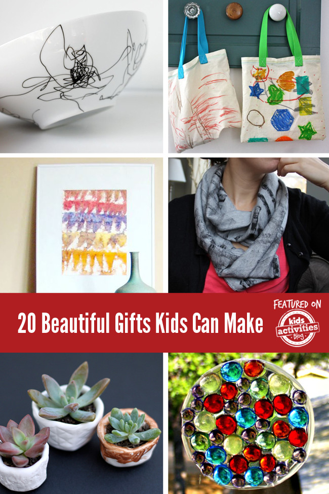 Best ideas about DIY Gifts For Kids To Make . Save or Pin 20 Beautiful Gifts Kids Can Make Now.
