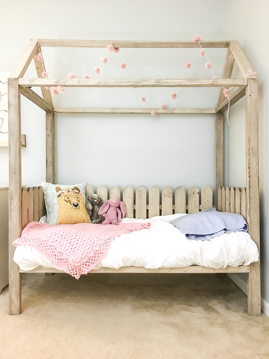 Best ideas about DIY Girls Beds . Save or Pin DIY Toddler House Bed Now.