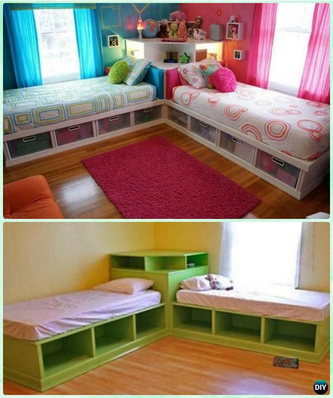 Best ideas about DIY Girls Beds . Save or Pin DIY Kids Bunk Bed Free Plans Corner Beds Unit And Inside Now.