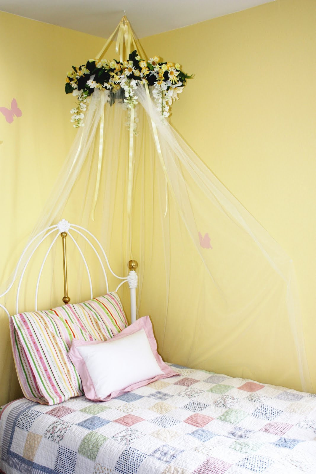 Best ideas about DIY Girls Beds . Save or Pin Everyday Art DIY bed canopy for little girls room Now.