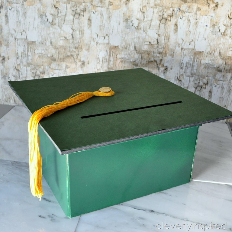 Best ideas about DIY Graduation Card Box . Save or Pin DIY Graduation t card box Cleverly Inspired Now.