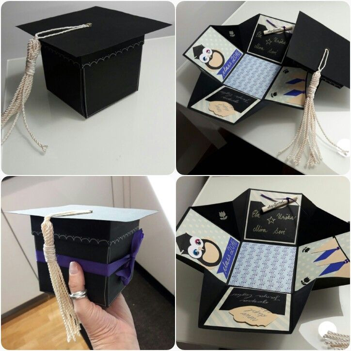 Best ideas about DIY Graduation Card Box . Save or Pin Graduation exploding box Sevi DIYs Now.