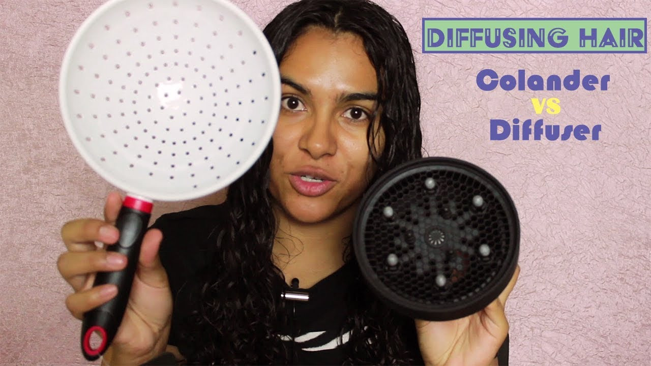 Best ideas about DIY Hair Dryer Diffuser . Save or Pin Diffusing Hair w Colander VS Diffuser Now.