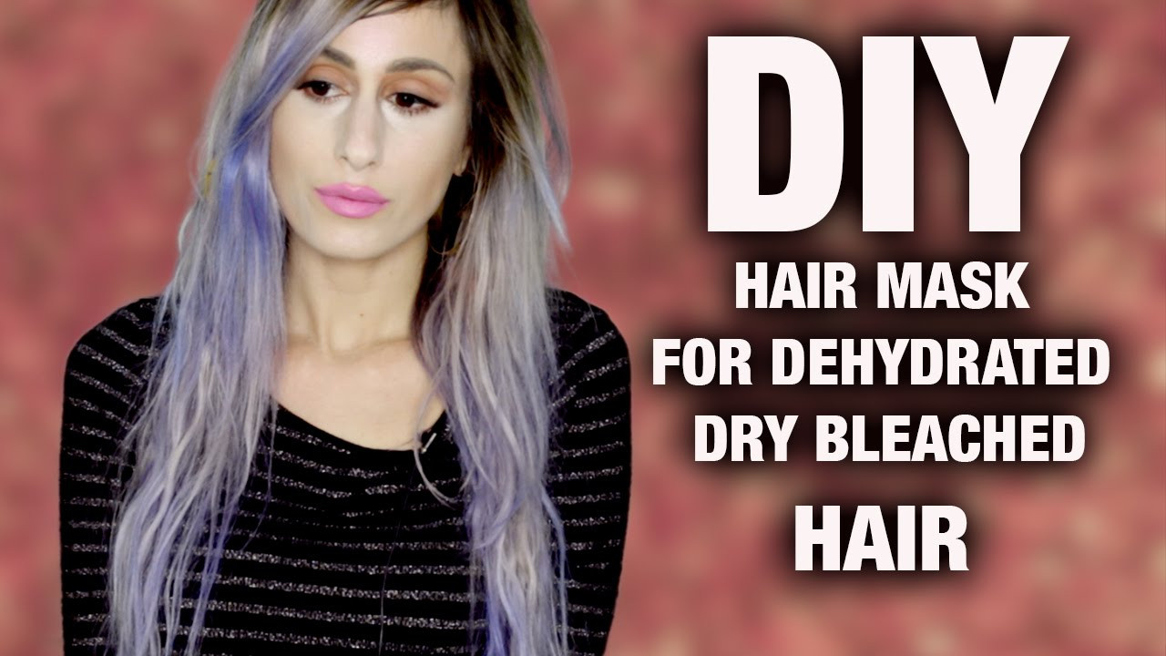 Best ideas about DIY Hair Mask For Bleached Hair . Save or Pin DIY Three Ingre nt Hair Mask for Dry Dehydrated Hair Now.
