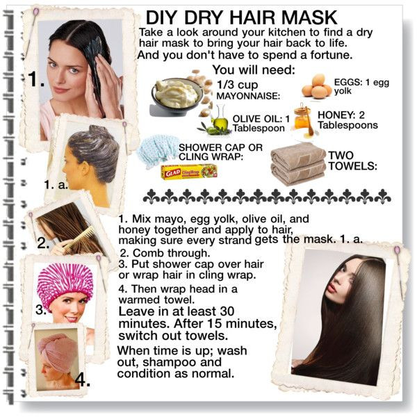 """Best ideas about DIY Hair Mask For Dry Hair . Save or Pin """"DIY Dry Hair Mask"""" by cathy1965 on Polyvore Now."""