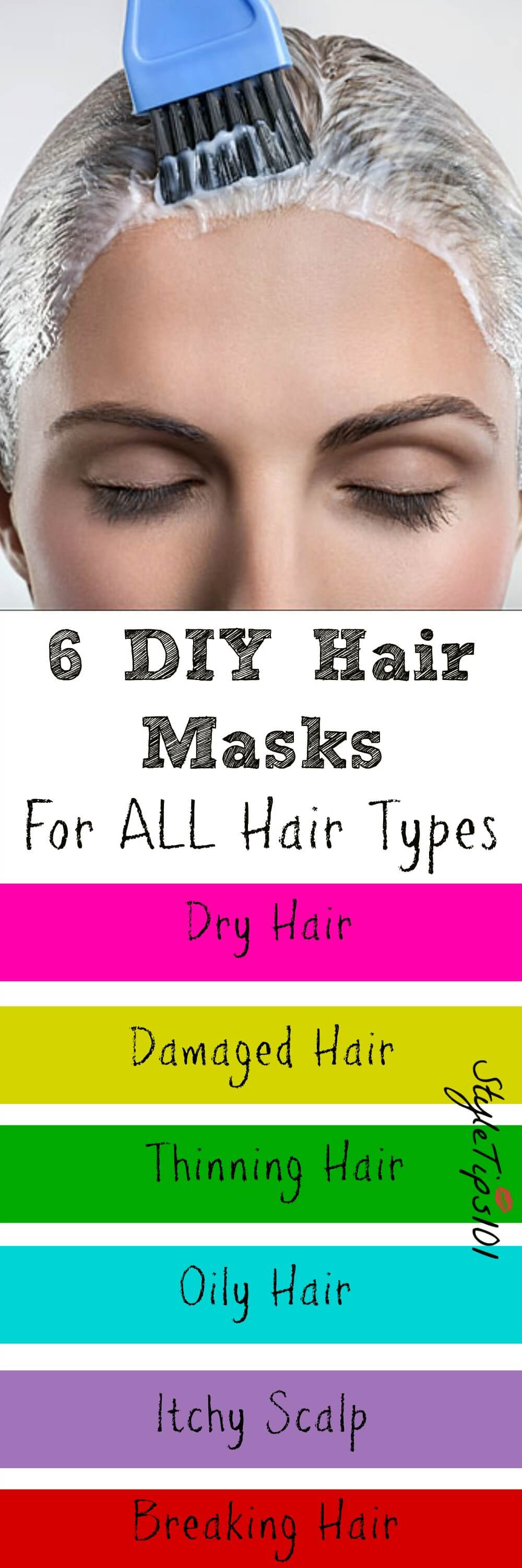 Best ideas about DIY Hair Mask For Dry Scalp . Save or Pin 6 DIY Hair Masks For All Hair Types Now.