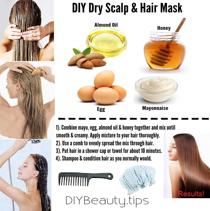 Best ideas about DIY Hair Mask For Dry Scalp . Save or Pin DIY Dry Scalp & Hair Mask Now.