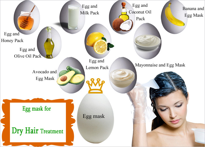 Best ideas about DIY Hair Mask For Dry Scalp . Save or Pin Homemade Egg Mask for Dry Hair Cure Now.