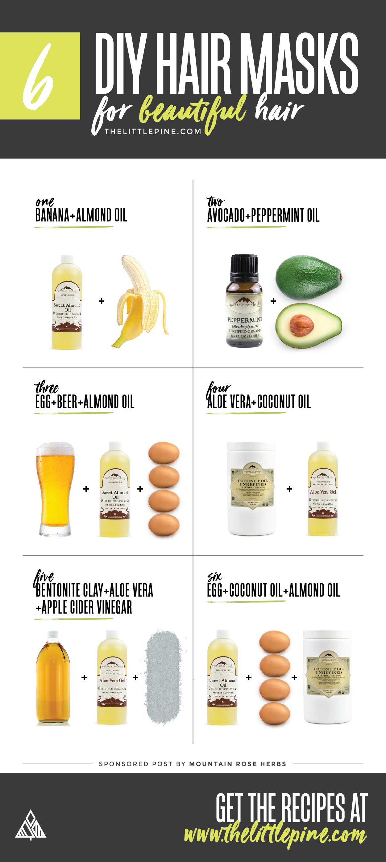 Best ideas about DIY Hair Mask . Save or Pin 6 DIY Hair Masks Little Pine Low Carb Now.