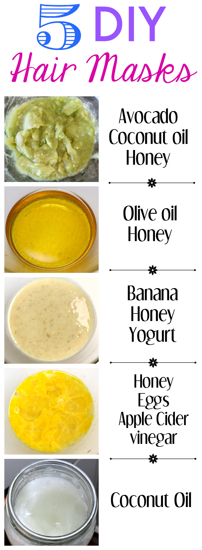 Best ideas about DIY Hair Masks . Save or Pin 5 DIY Hair Masks You Can Make at Home Now.