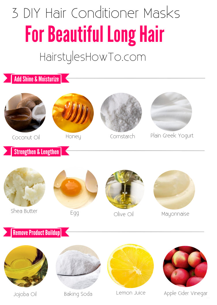 Best ideas about DIY Hair Masks For Hair Growth . Save or Pin 3 DIY Hair Conditioner Masks for Beautiful & Long Hair Now.