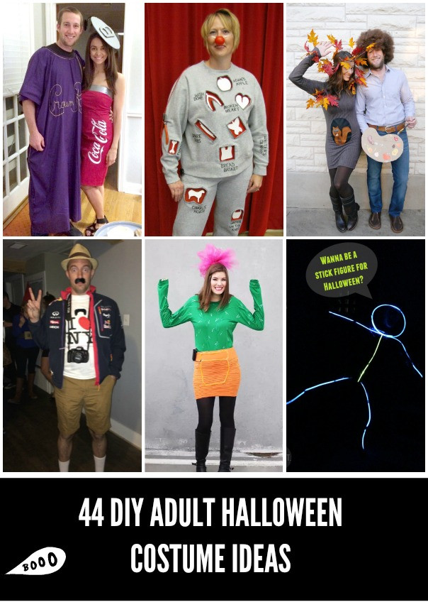 Best ideas about DIY Halloween Costumes For Adults Funny . Save or Pin 44 Homemade Halloween Costumes for Adults C R A F T Now.