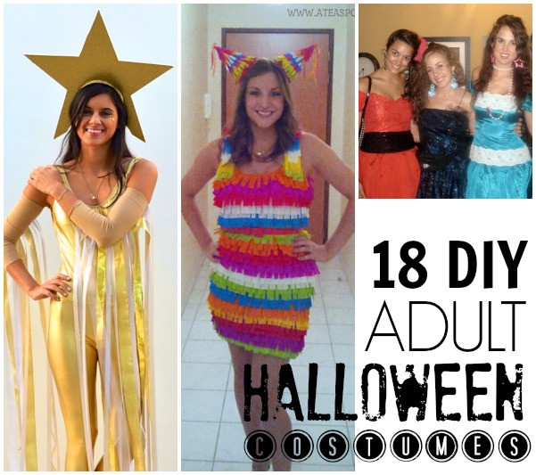 Best ideas about DIY Halloween Costumes For Adults Funny . Save or Pin 19 Easy DIY adult costumes C R A F T Now.