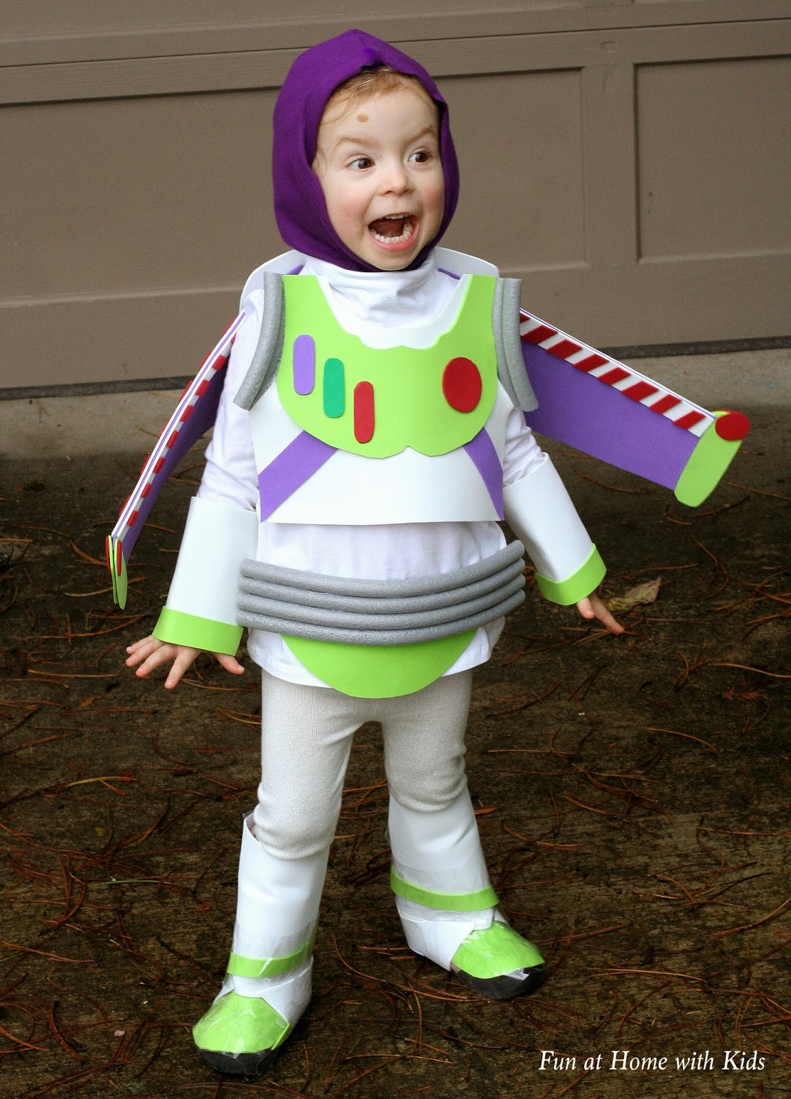 Best ideas about DIY Halloween Costumes Kids . Save or Pin DIY Kids Buzz Lightyear No Sew Halloween Costume Now.