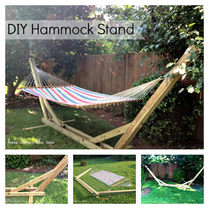 Best ideas about DIY Hammock Stand Plans . Save or Pin DIY Backyard Hammock Stand Now.