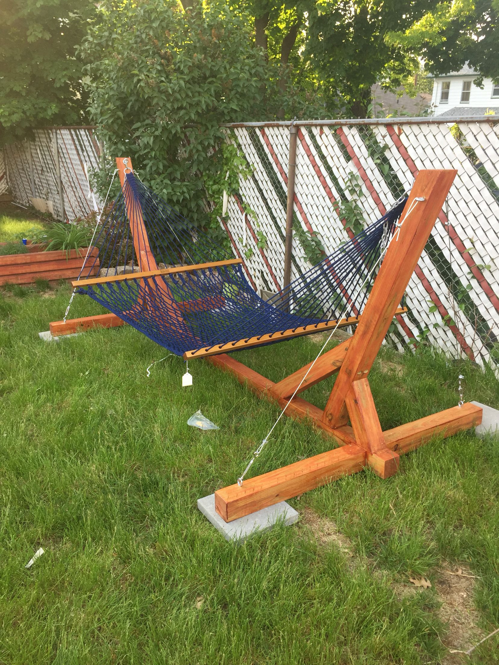 Best ideas about DIY Hammock Stand Plans . Save or Pin 15 Inexpensive DIY Hammock Stand Tutorial Guide Now.
