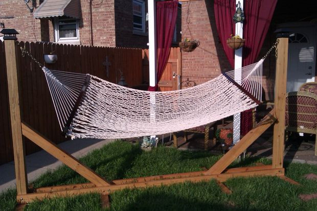 Best ideas about DIY Hammock Stand Plans . Save or Pin DIY HAMMOCK STAND All Now.