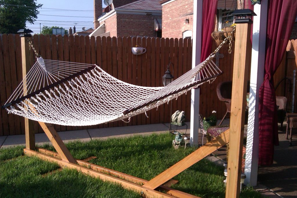 Best ideas about DIY Hammock Stand Plans . Save or Pin DIY HAMMOCK STAND Now.